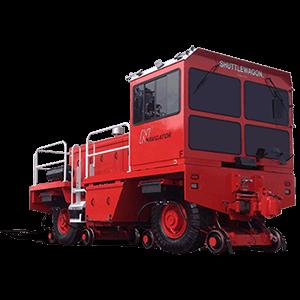 Shuttlewagon Navigator - Mobile Railcar Movers - The world's largest, highest capacity mobile railcar mobile - diesel powered track mobile rail mover