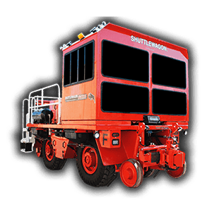 SWX525 Shuttlewagon by Nordo - Mobile Railcar Movers - Largest Commander Series model. Designed to compete with Trackmobile ® Titan and Rail King™ RK 330 models
