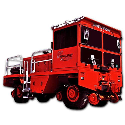 Shuttlewagon NVX 5025 - Mobile railcar movers 6 cylinder tier 4 final engine - railcar mover sales