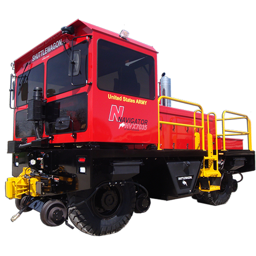 NVX7035 Shuttlewagon - Efficient & Economically produces 50,000lbs of single-couple tractive effort capability - shuttelwagon navigator - locomotive
