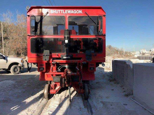 Shuttlewagon SWX 525 - 35,000 lbs tractive effort - cummins engine - mobile railcar mover - used machines for sale - railcar mover sales