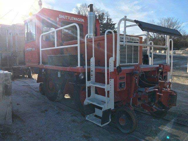 Used Shuttlewagon SWX 525 - 35,000 lbs tractive effort - cummins engine - mobile railcar mover - used machines for sale - railcar mover sales