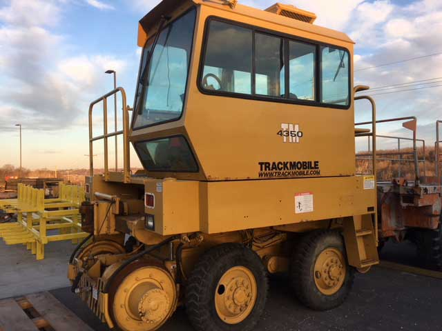 Shuttlewagon offers Trackmobile TM4350 Used Machine - Purchase or rent - mobile railcar mover sales