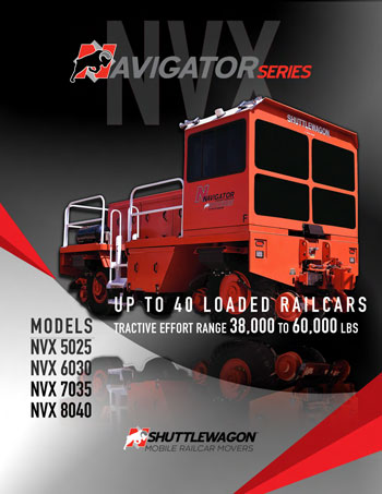 NVX6030 - Shuttlewagon Mobile Railcar Movers - Navigator series - up to 40 loaded railcars