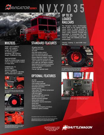 NVX7035- Shuttlewagon Mobile Railcar Movers - Navigator series