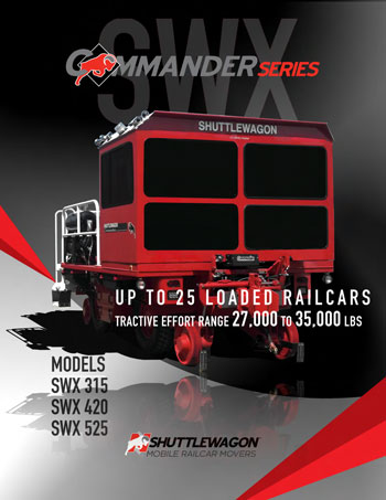 SWX525 - Shuttlewagon Mobile Railcar Movers - up to 25 loaded railcars