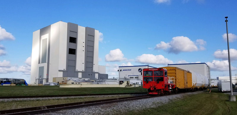 NASA & Shuttlewagon - Rocket Motors for First NASA Artemis Moon Mission Arrive at Spaceport