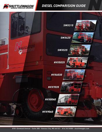 Shuttlewagon Comparison Grid - mobile railcar movers - electric railcar movers