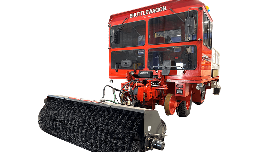 11Shuttlewagon Broom - Mobile Railcar Movers - Shuttlewagon options - customize your railcar mover
